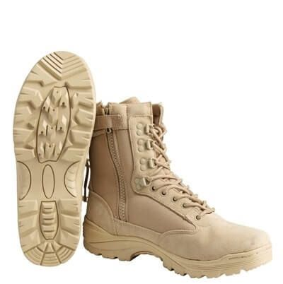 Ботинки Mil-Tec Tactical Boot Zipper YKK Khaki 45 12822104