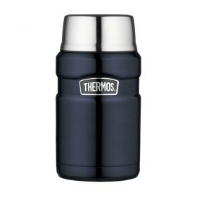 Термос для еды с ложкой 0.71L Thermos Stainless King Food Flask, Midnight Blue, 710 ml 173030