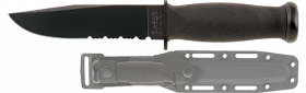 Нож Ka-Bar Mark I Black Serrated 2222