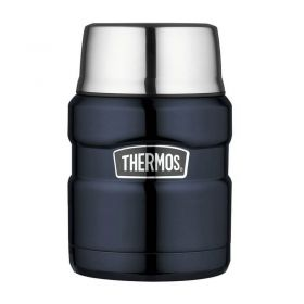 Термос для еды с ложкой 0.47L Thermos Stainless King Food Flask, Midnight Blue, 470 ml 173020