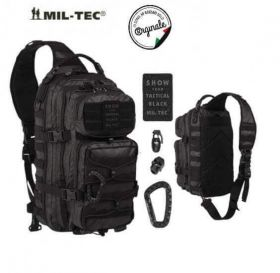 Тактический Рюкзак Mil-Tec Tactical Black One Strap Assault Pack Large 29 L 14059288